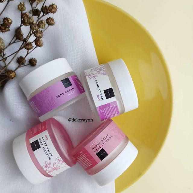 mencoba cream wajah scarlett, acne dan ever after cream