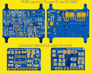 PCB Layout 500W Class-D Amp IRS20957 SMD