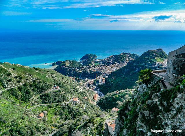 Taormina vista de Castelmola, Sicília