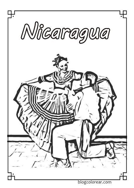 Colorear trajes típicos de Nicaragua