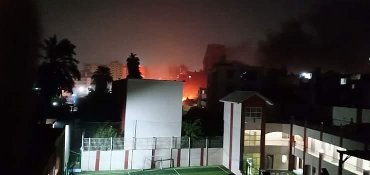 عااااجل بالصور/ انفجار ضخم في معهد الأورام بالمنيل واشتعال النيران بالطابق الثاني