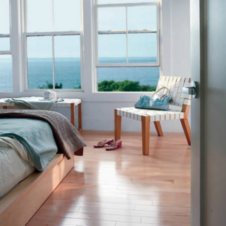 Modern, coastal bedroom