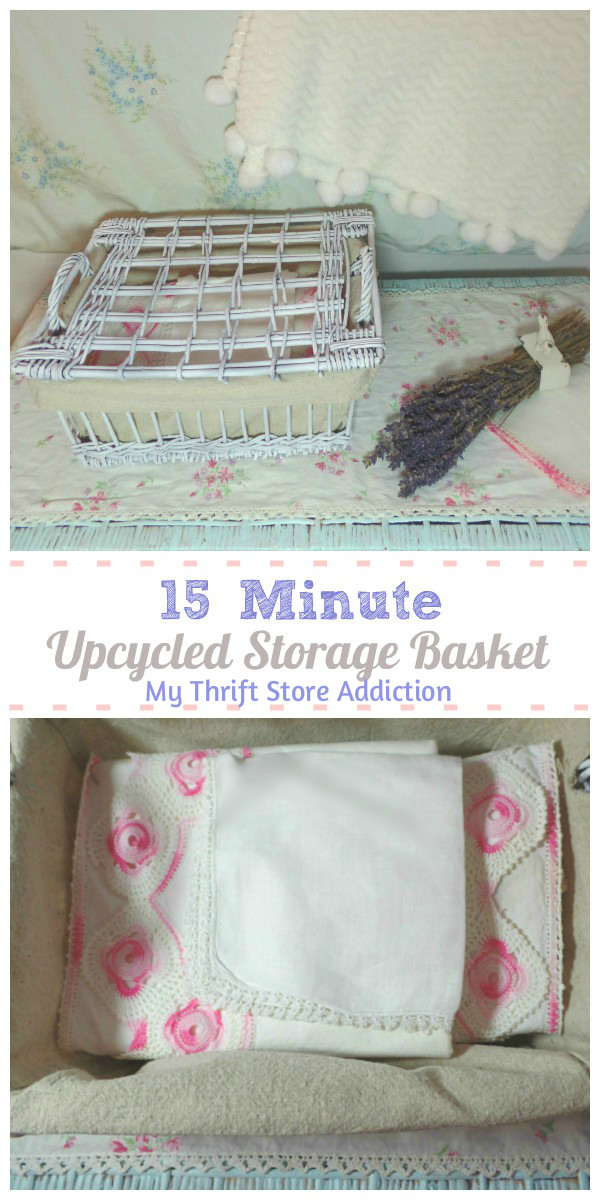 For inexpensive storage, grab some thrift store baskets. All it takes is a little paint and less than 15 minutes to transform them as thrifty storage!
