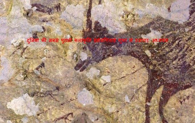 दुनिया की सबसे पुरानी कलाकृति इंडोनेशियाई गुफा में उजागर: अध्ययन