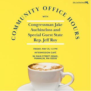 Congressman Auchincloss: Community Office Hours in Franklin this Friday - May 21