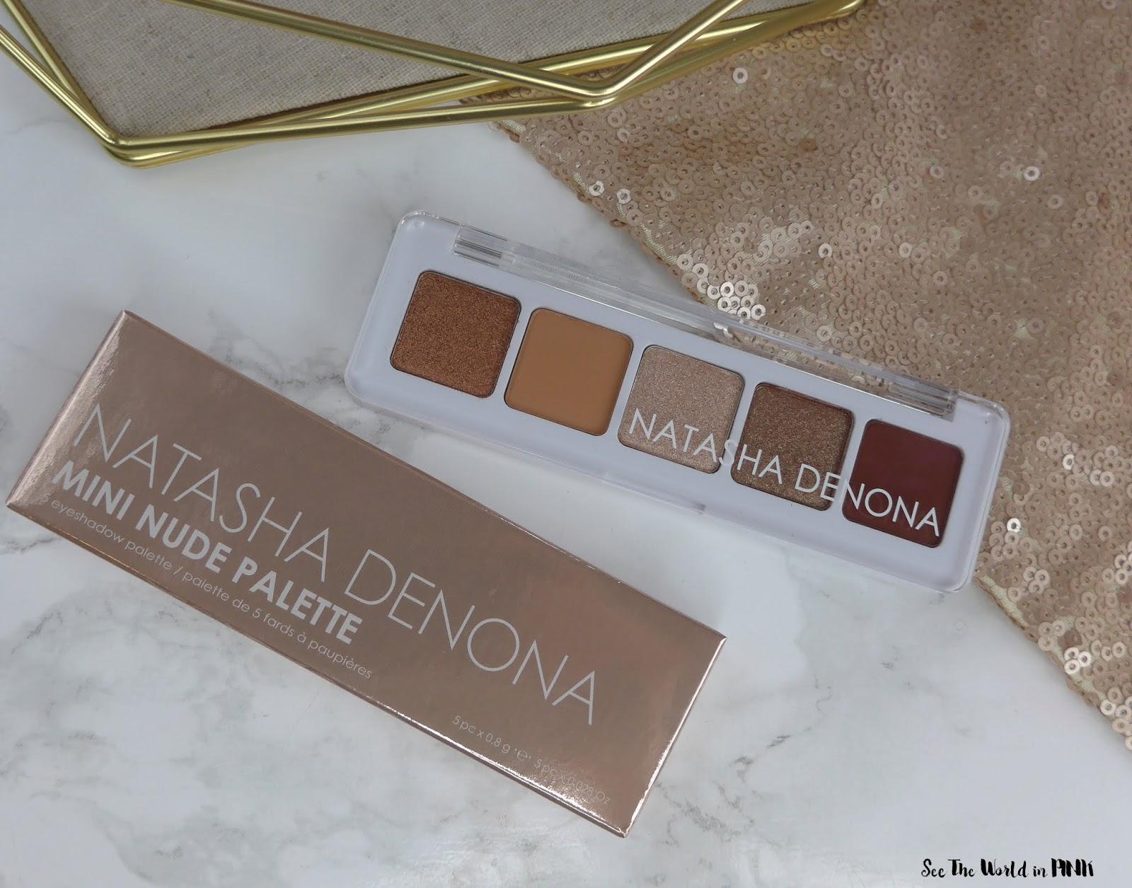 Natasha Denona Mini Nude Eyeshadow Palette - Swatches, Review and Look!