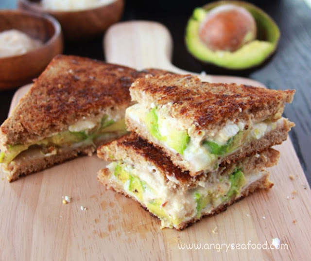 Hummus And Feta Grilled Cheese