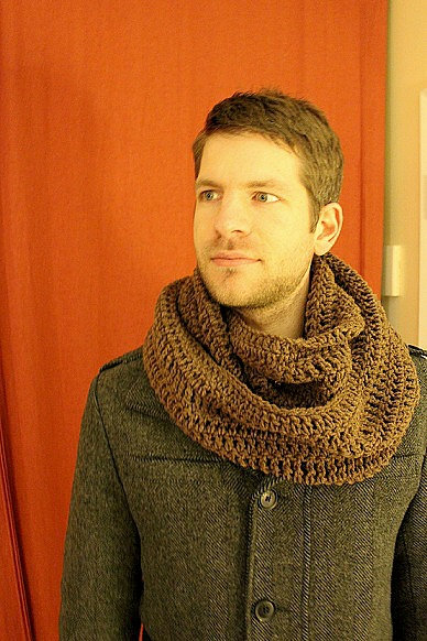 Scarfs Men Scarf And Casual On Pinterest Nice Scarves: Raediant Crochet: Men's Infinity Scarf Pattern