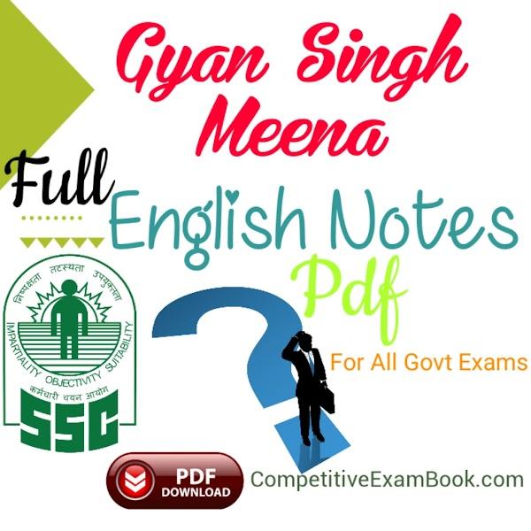 English Notes PDF By Gyan Singh Meena
