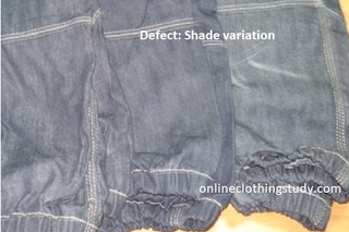 shade variation between garments
