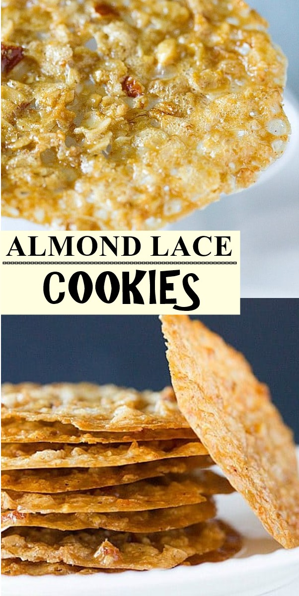 ALMOND LACE COOKIES #cookiesrecipes