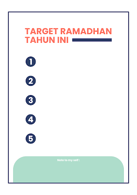 Download Jurnal Ramadhan Gratis