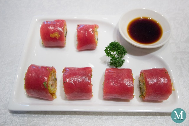 Steamed Red Rice Rolls with Shrimp by Shang Palace at Shangri-La Hotel Guilin