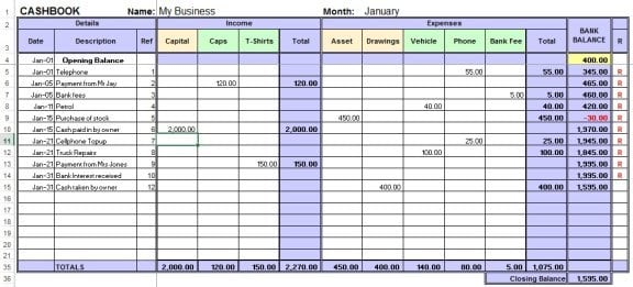 Do your own bookkeeping as simple as filling out a table. Simple Excel Bookkeeping Templates