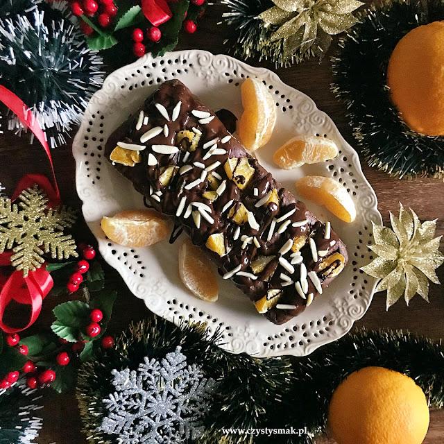 Niskosłodzone ciasto czekoladowo-pomarańczowe