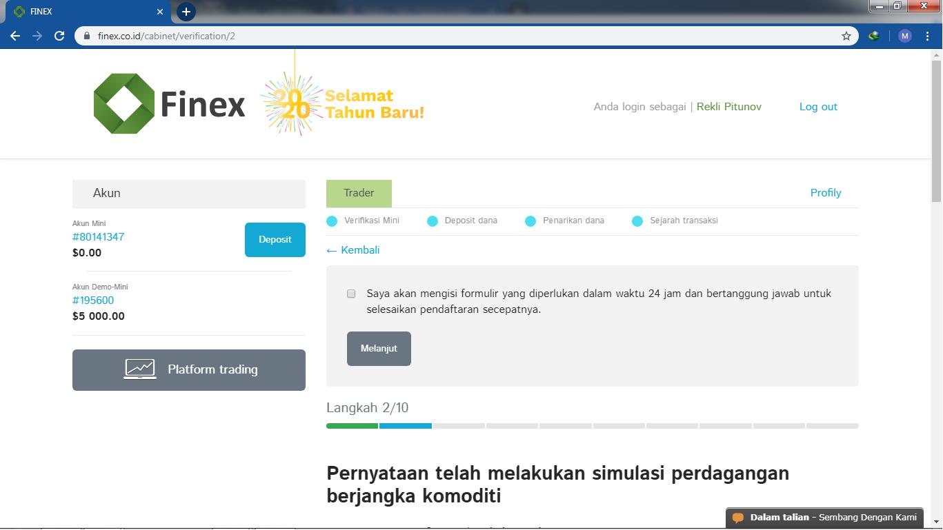 Cara Daftar Finex Ib Finex Finex Berjangka Daftar Finex