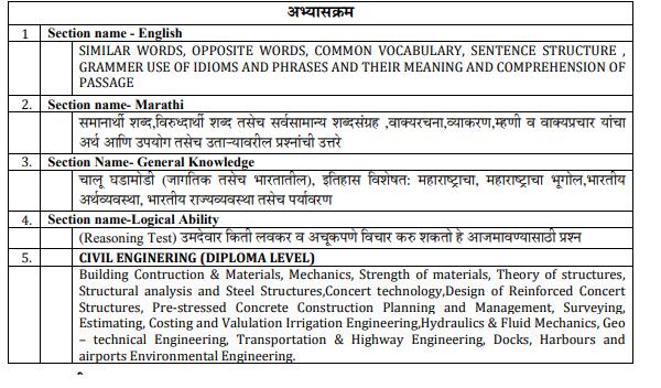 Mahapariksha Maharashtra WRD Junior Engineer Civil