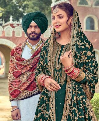 Eba Lifestyle Gulabi Rang Dulhan Wedding Salwar Kameez