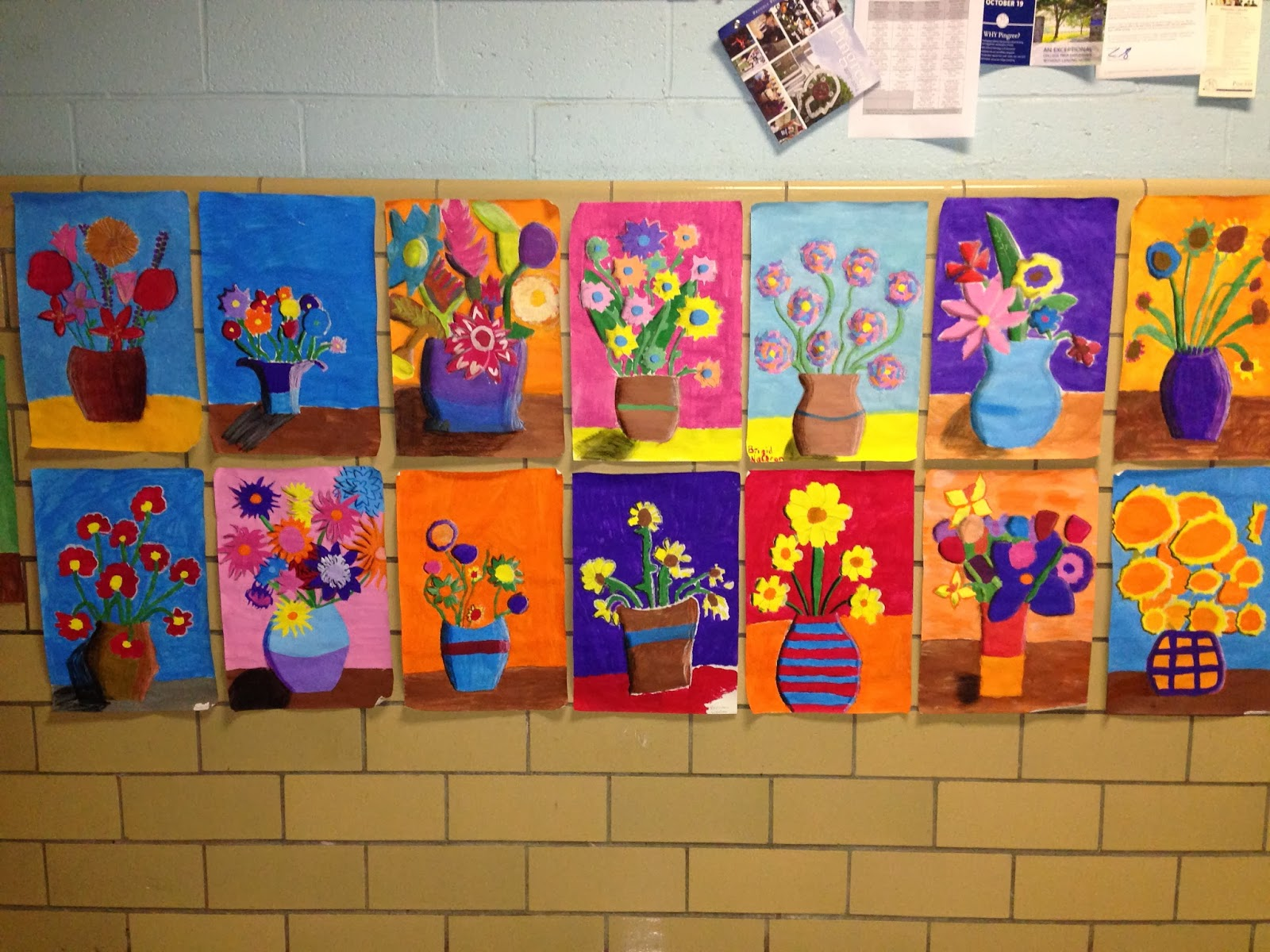 Expression Of Imagination Van Gogh Inspired Flowers By 8th Grade
