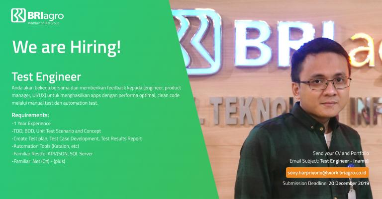 Rekrutmen Pegawai PT BANK RAKYAT INDONESIA AGRONIAGA Tbk ...