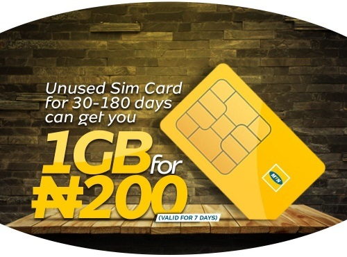 Get 1GB for 200 Naira on MTN
