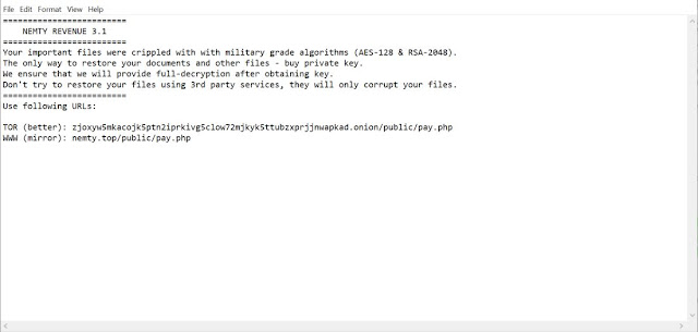 NEMTY REVENUE 3.1 (Ransomware)