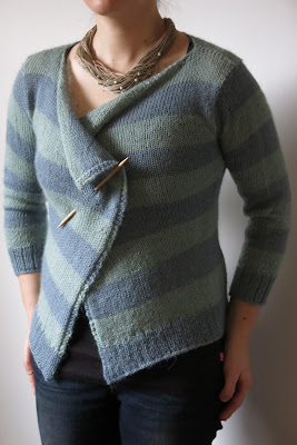stripy drape cardigan knitting pattern