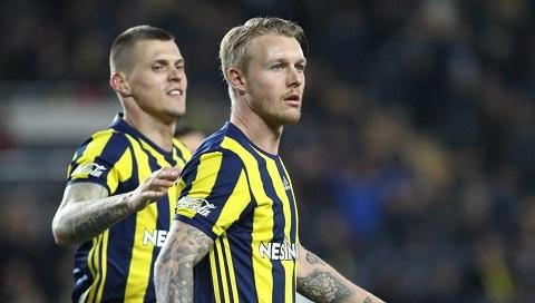 Tính đến thời điểm này, Simon Kjaer đã ra sân tổng cộng 68 lần cho đội bóng Fenerbahce.