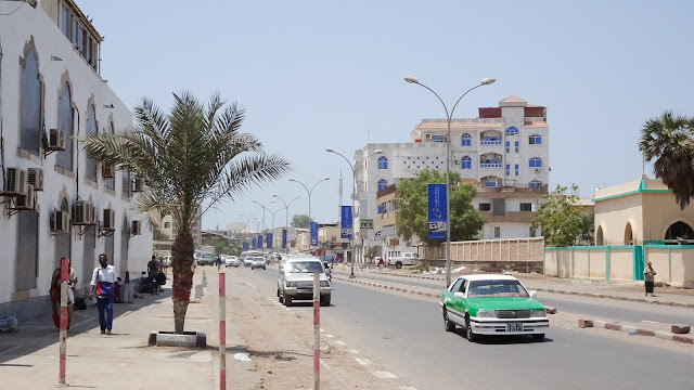Djiboutis biggest road in the city
