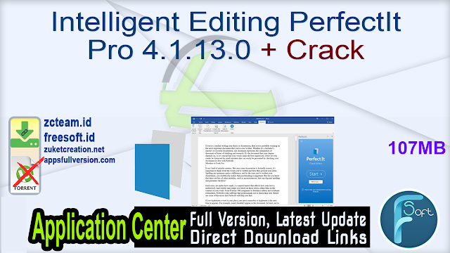 Intelligent Editing PerfectIt Pro 4.1.13.0 + Crack