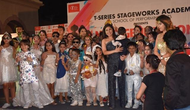 T-series एकेडमी फिल्म सिटी नोएडा में एक किड्स फैशन शो का आयोजन