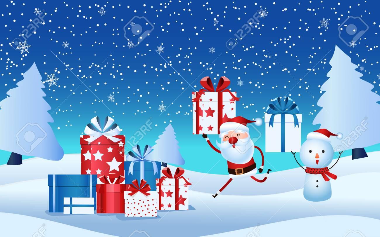 Gift Of Christmas.Christmas Day Gift Merry Christmas