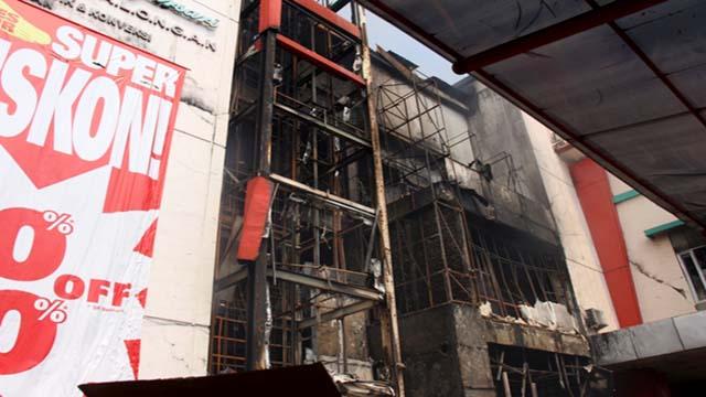 Kondisi Kebakaran Pasar Banjarsari Pekalongan