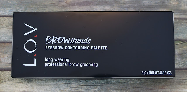 L.O.V BROWttitude eyebrow contouring palette 300 blonde attitute