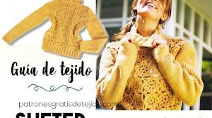 Cómo tejer un suéter combinando crochet y dos agujas | Guía de tejido