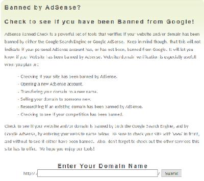 Cum afli daca un domeniu a fost banat de Google Adsense?