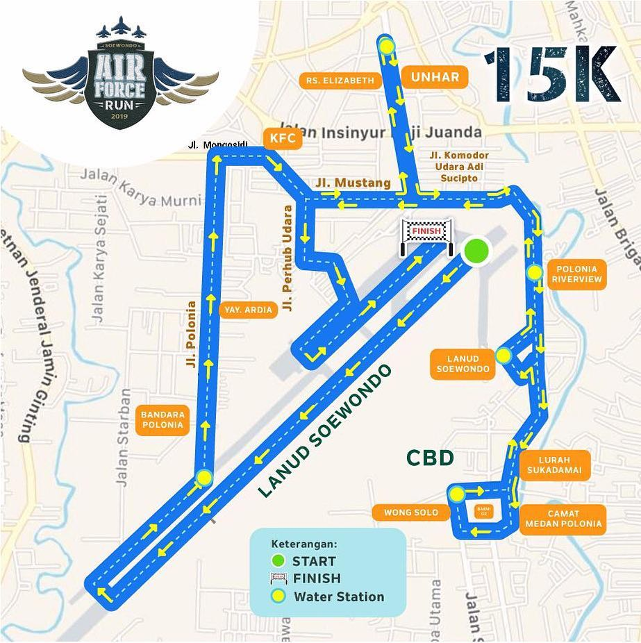 Air Force Run - Medan • 2019 Rute 15K