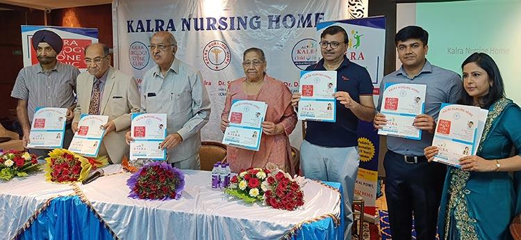 (From Right to Left) Dr. Shruti Kalra, Dr. Yogesh Kalra, Dr. Deepak Bansal, Dr. Surender Kalra, Dr. Satish Jain, Subhash Bajaj, Dr. D P Singh