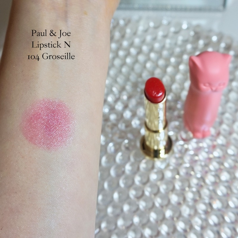 Paul & Joe lipstick 104 Groseille swatch