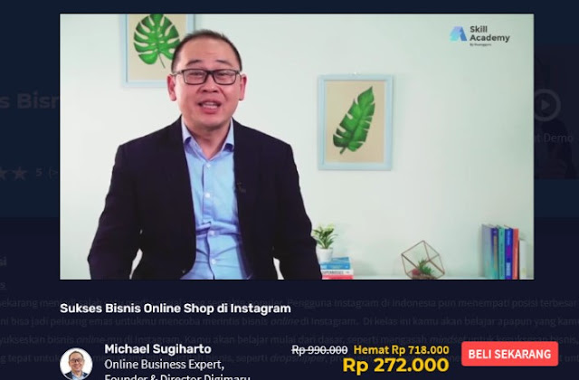 video kursus bisnis online shop instagram di skill academy