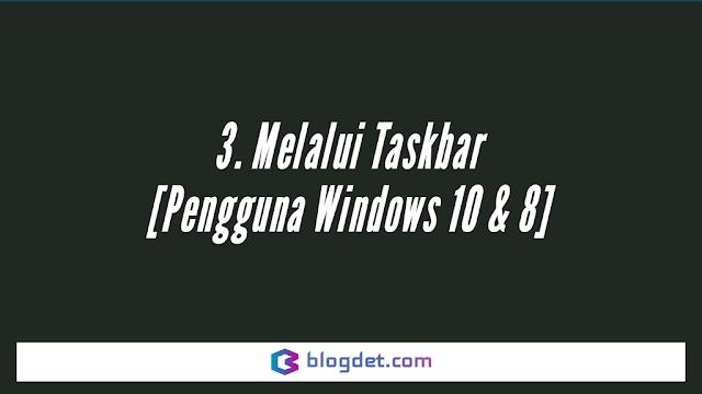 Cara Menyambung Wifi ke Laptop Asus Melalui Taskbar [Pengguna Windows 10 & 8]