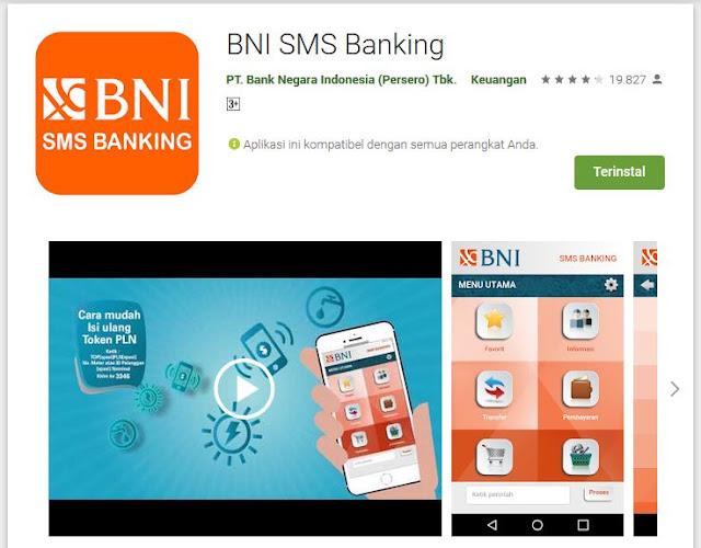 Aplikasi BNI SMS Banking Terbaru 2019