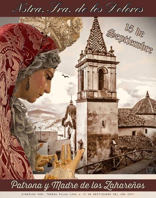 Cartel Anunciador de la Patrona la Virgen de los Dolores 2021, Zahara de la Sierra