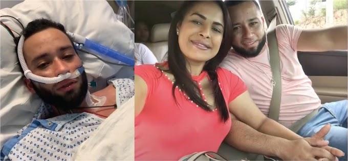 Joven dominicano que agoniza en hospital de Nueva Jersey clama por visa humanitaria para ver su esposa