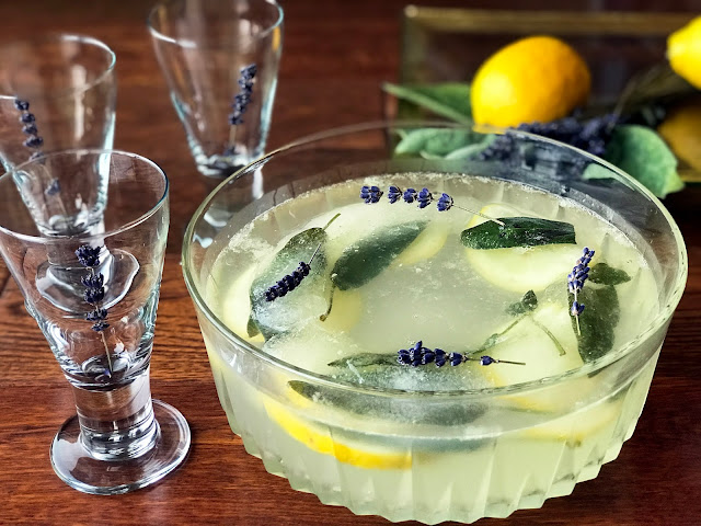 Raise Your Glass of Sparkling Aromatic Lavender Punch