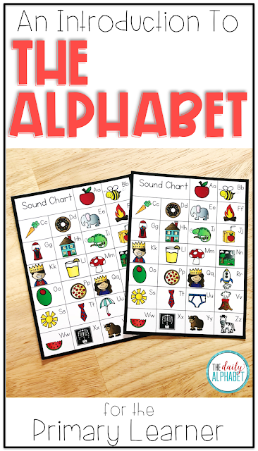 Early reading success can be attributed to early letter recognition. Introducing the alphabet through the first 26 days of school can help with that!