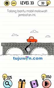 Tolong bantu mobil melewati jembatan ini brain test