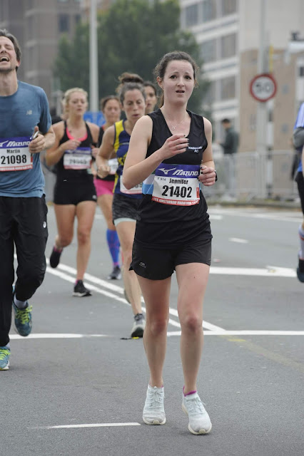Running on road at Amsterdam Half Marathon