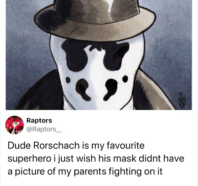 watchmen rorschach drawing face - Raptors Dude Rorschach is my favourite superhero i just wish his mask didnt have a picture of my parents fighting on it