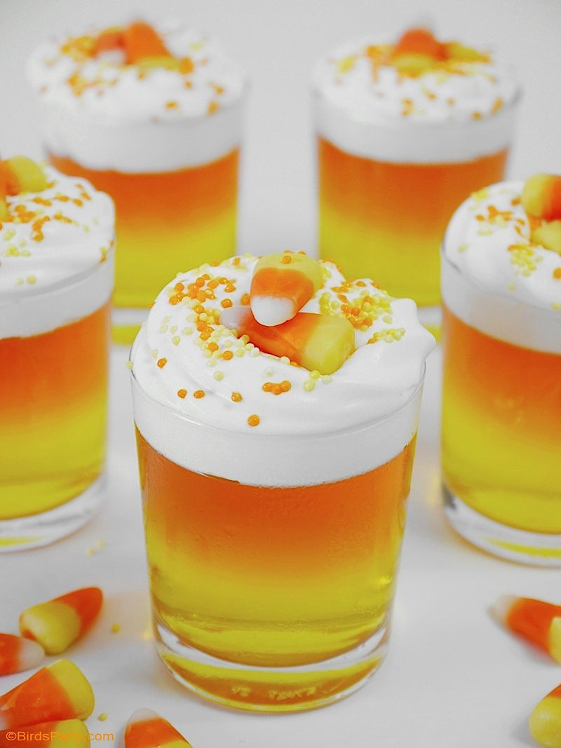 Halloween Candy Corn Jello Cups